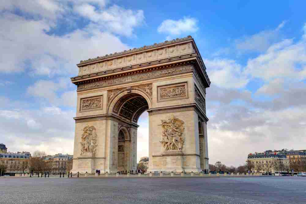 Arc de Triomphe in Paris in France