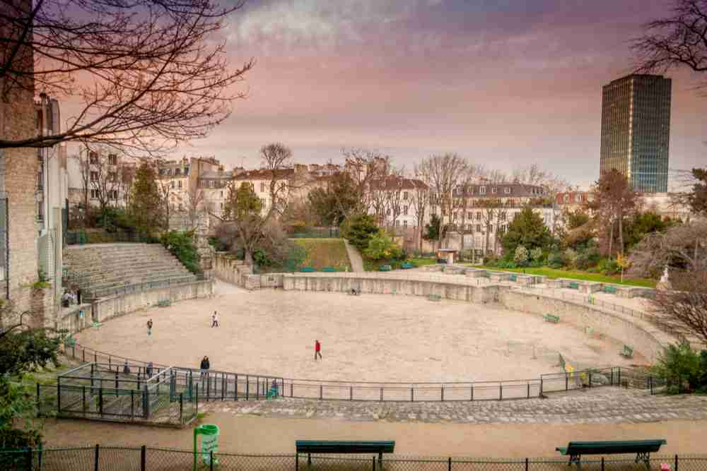 Arena from Lutetia in Paris in France