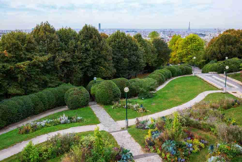 Belleville Park in Paris in France