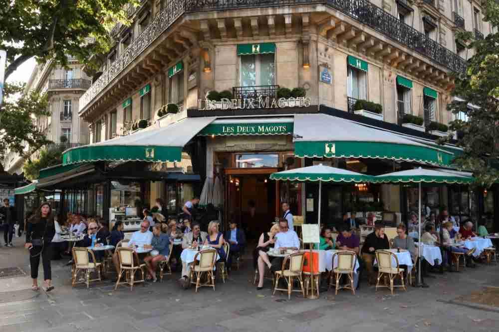Cafe Les Deux Magots in Paris in France