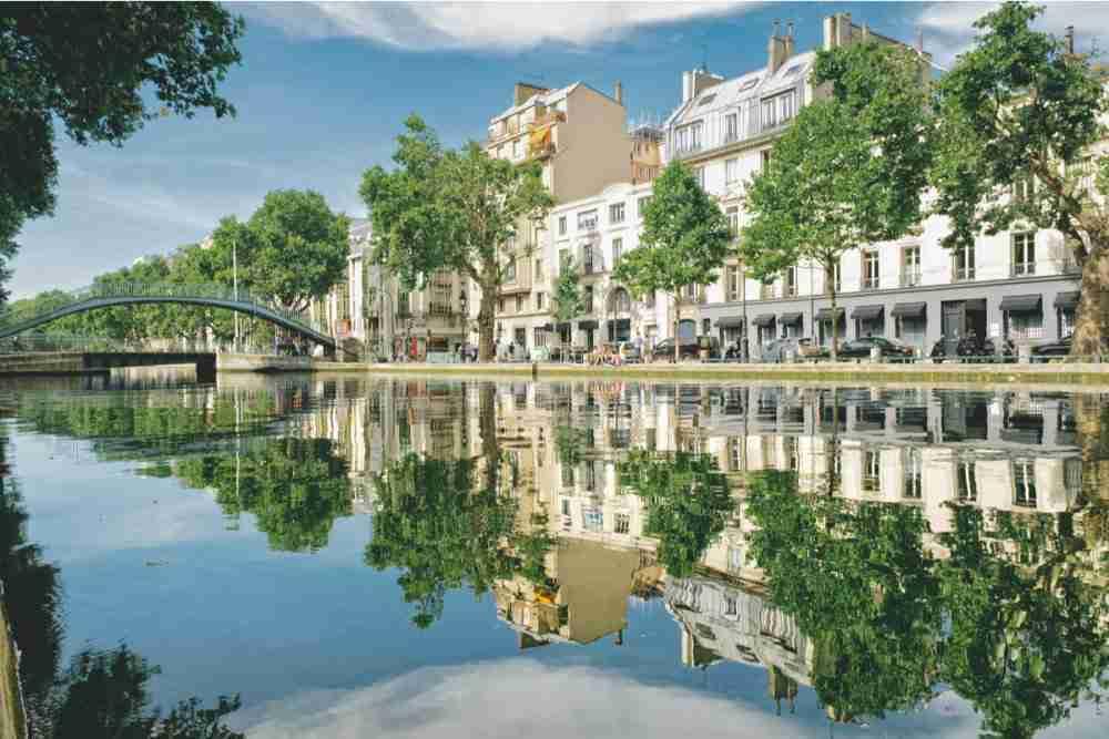 Canal Saint Martin in Paris in France