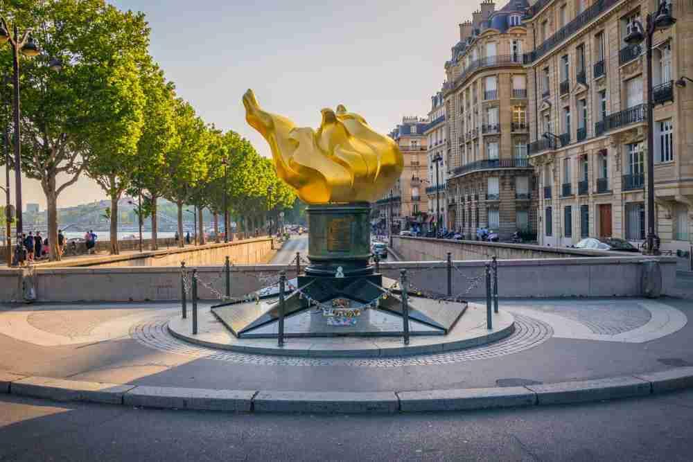 Flamme de la Liberte in Paris in France