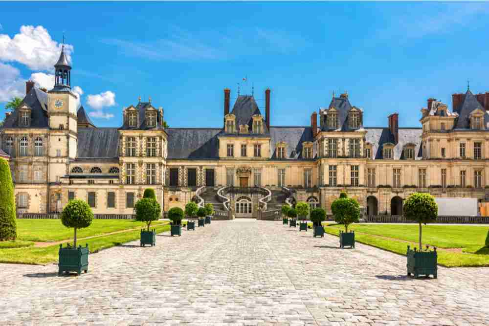 Fontainebleau castle in Paris in France
