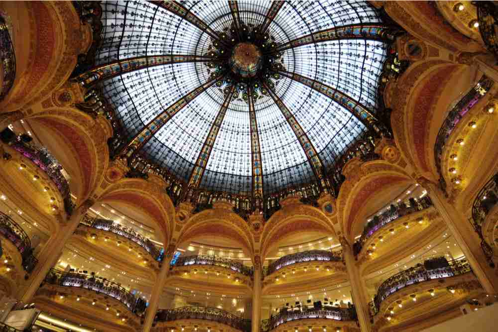 Galerie Lafayette in Paris in France