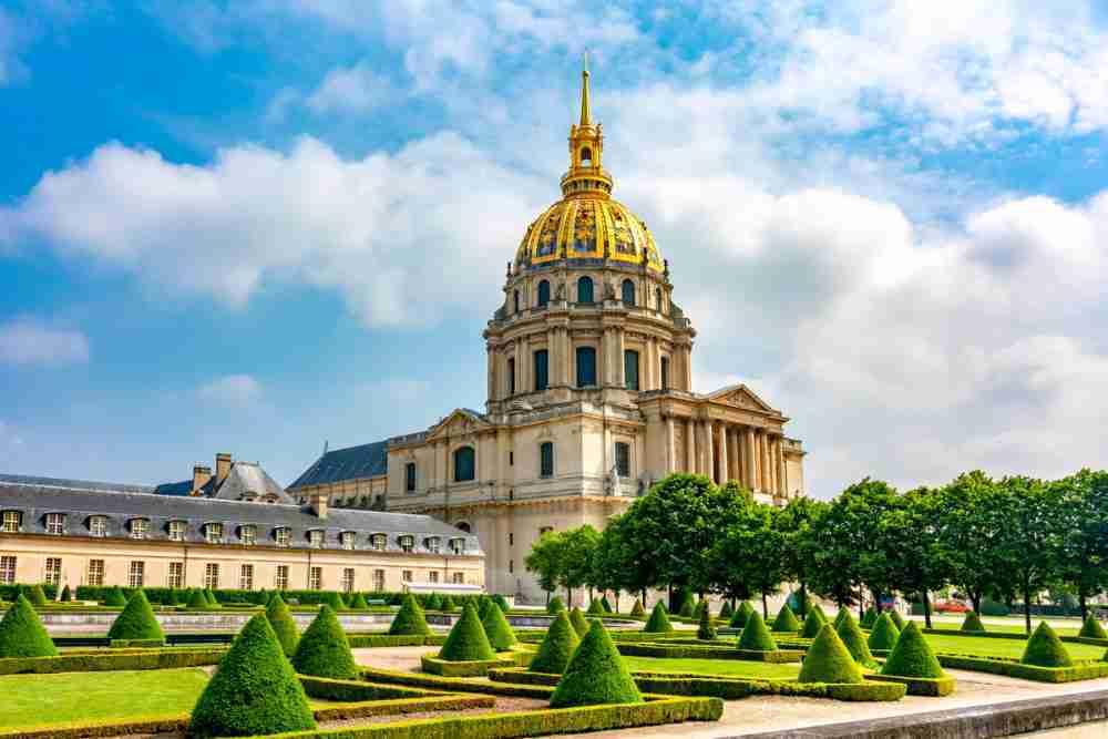 Hotel National des Invalides in Paris in France