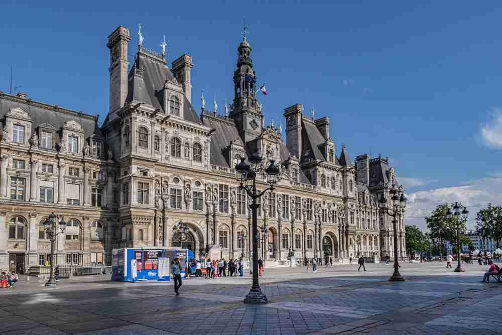 Hotel de Ville in Paris in France