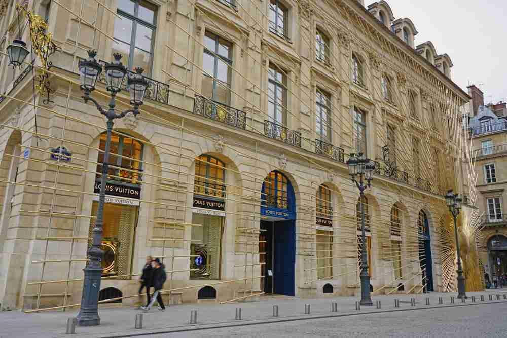 Louis Vuitton Maison in Paris in France