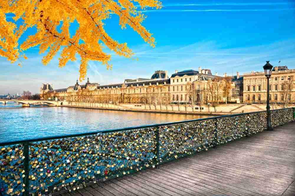 Pont des Arts in Paris in France