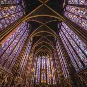 Saint Chapelle Church in Paris in France
