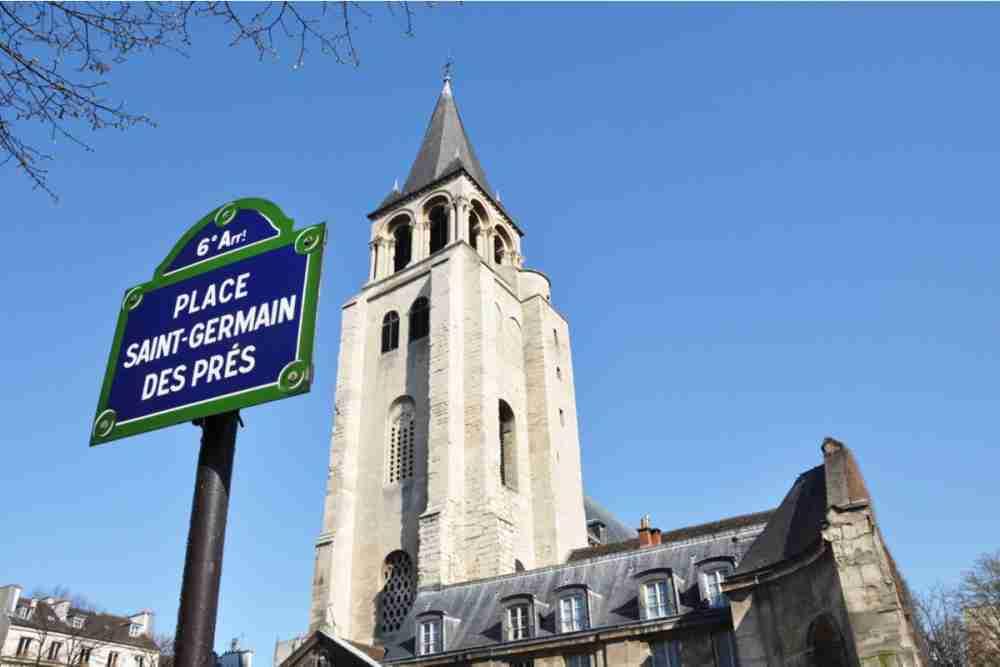 Saint Germain des Pres Church in Paris in France