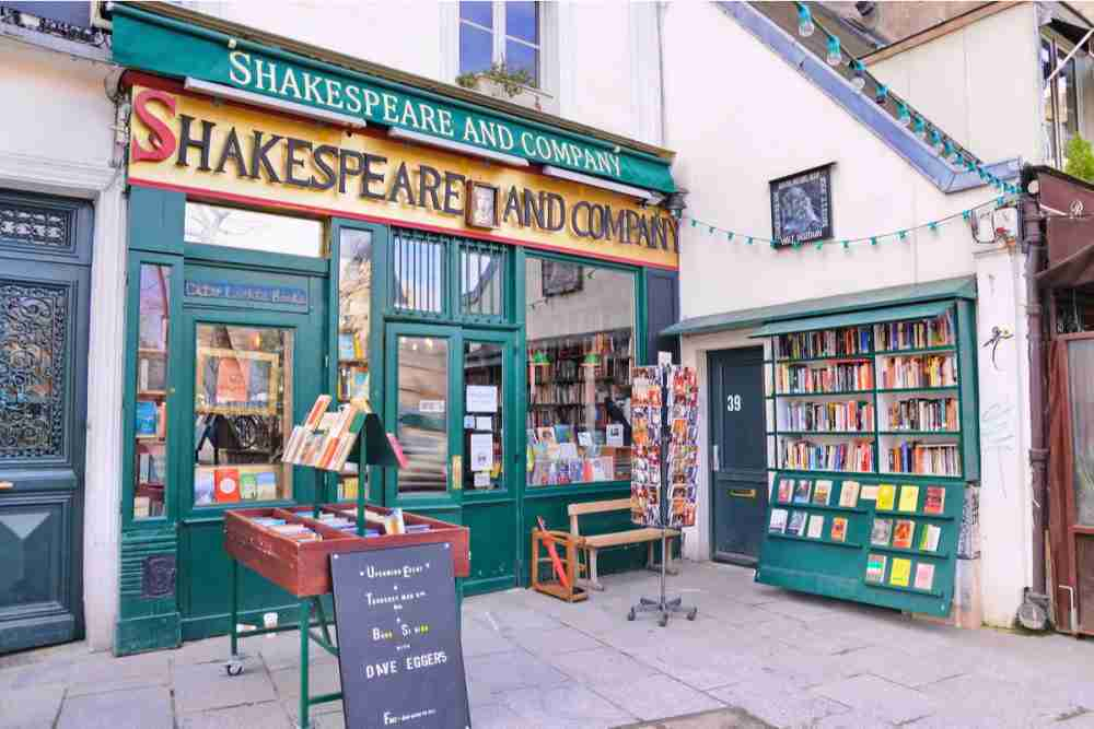 Shakespeare and Company in Paris in France