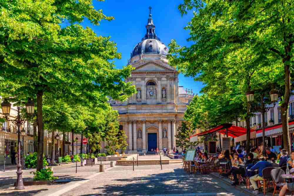 Sorbonne in the Quartier Latin in Paris in France