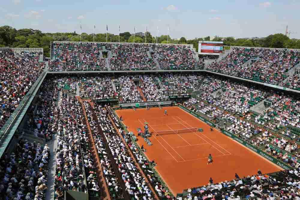 Stade Roland Garros in Paris in France