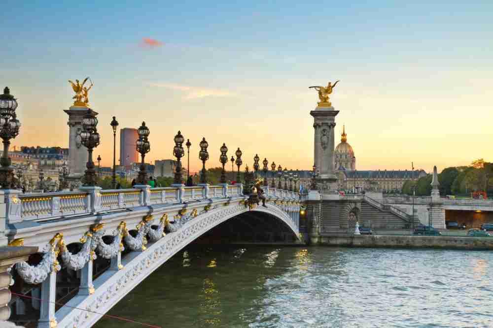 The Alexandre III Bridge in Paris in France