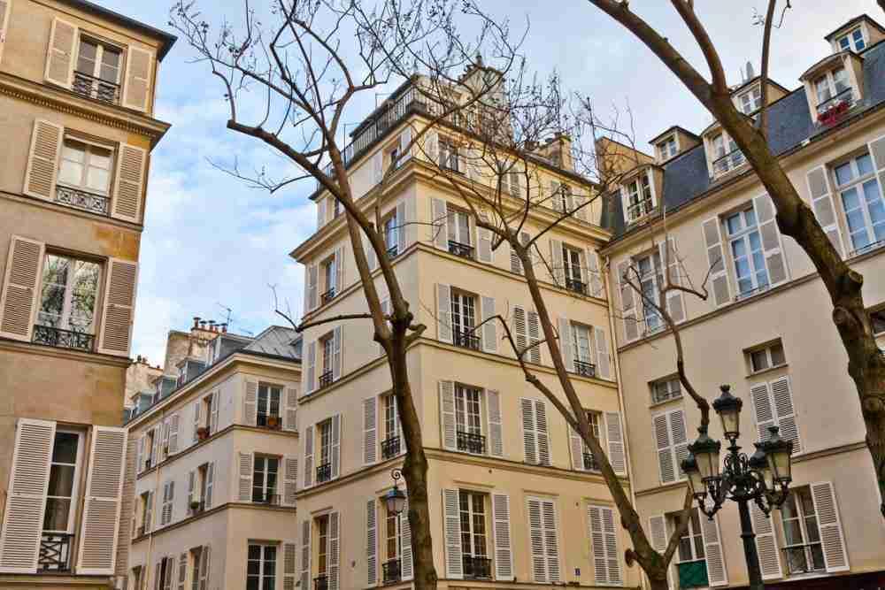 The Furstenberg square in Paris in France