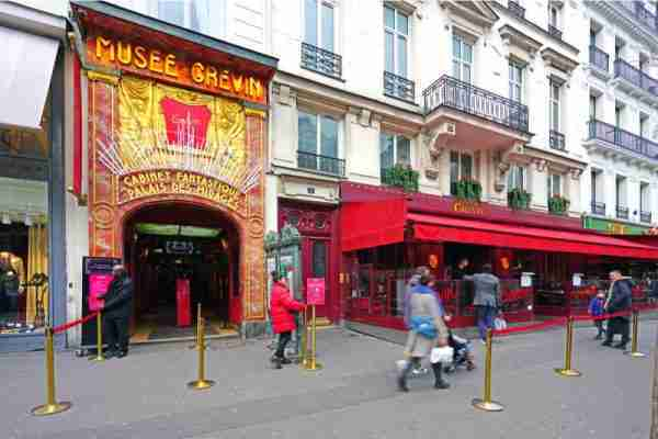 The Grevin wax museum in Paris in France