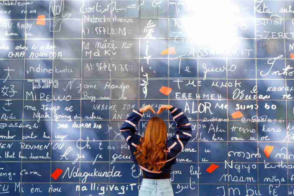 The I love you wall in Paris in France