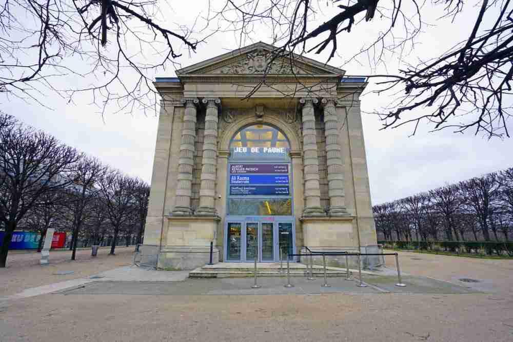 The Jeu de Paume Museum in Paris in France