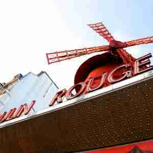The Moulin Rouge in Paris in France
