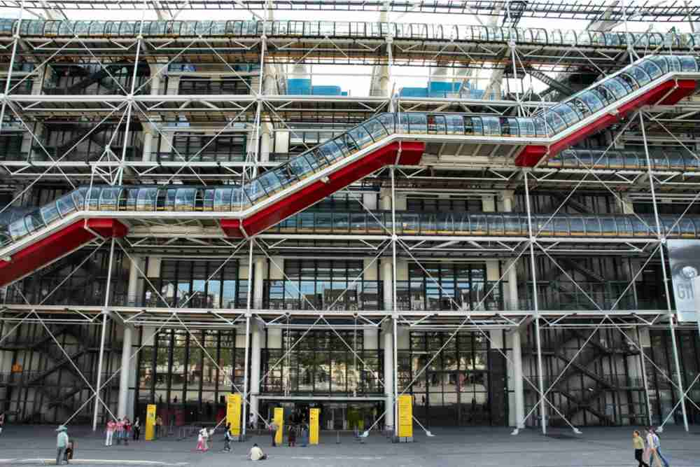 The Pompidou Art Center in Paris in France