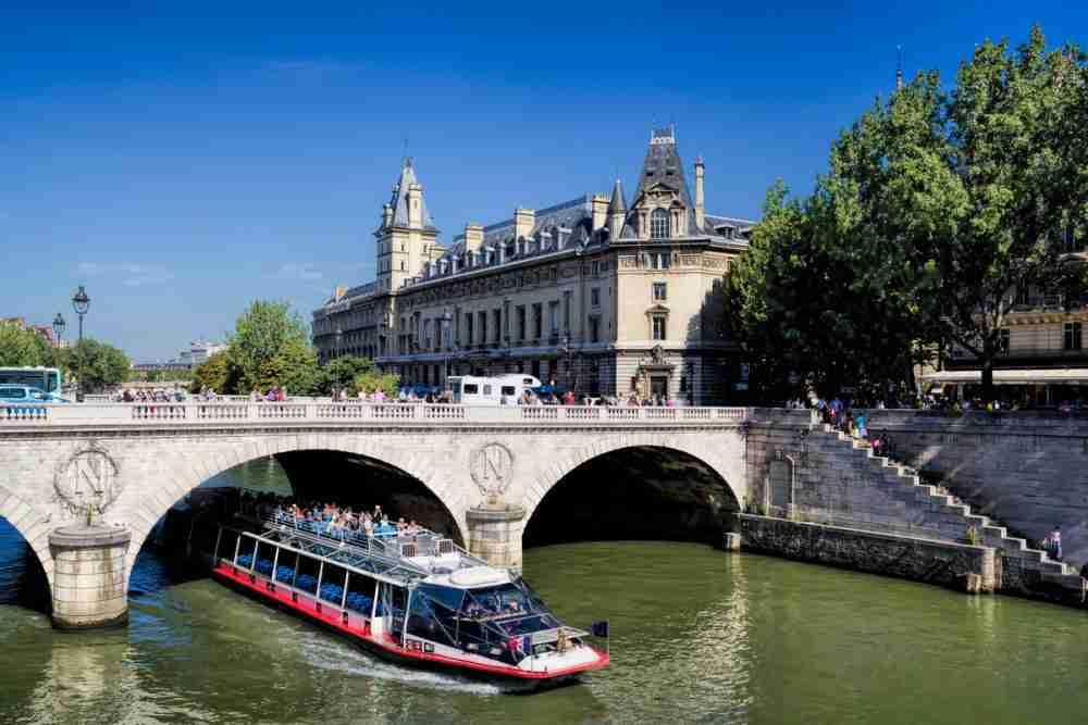 The Saint Michel bridge in Paris in France