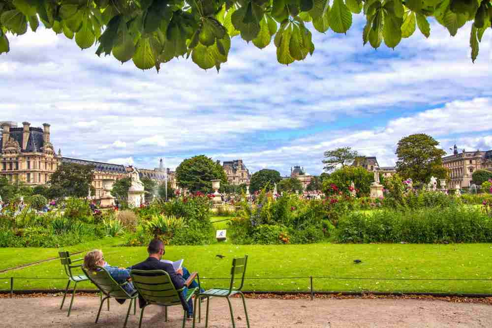 The Tuileries Garden in Paris in France