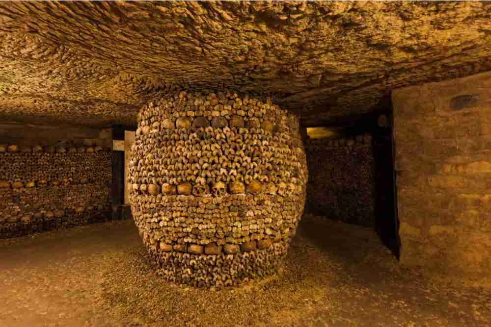 The archaeological crypt in Paris in France