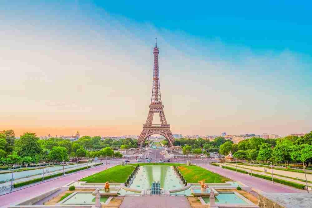 Trocadero Gardens in Paris in France