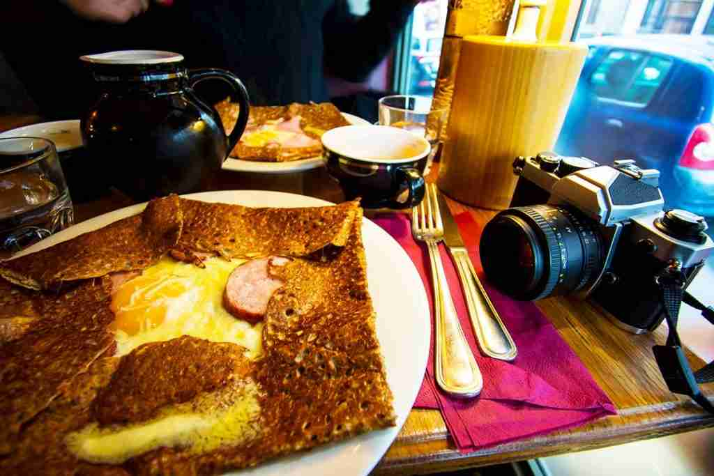Galette is a simple and delicious option in Paris