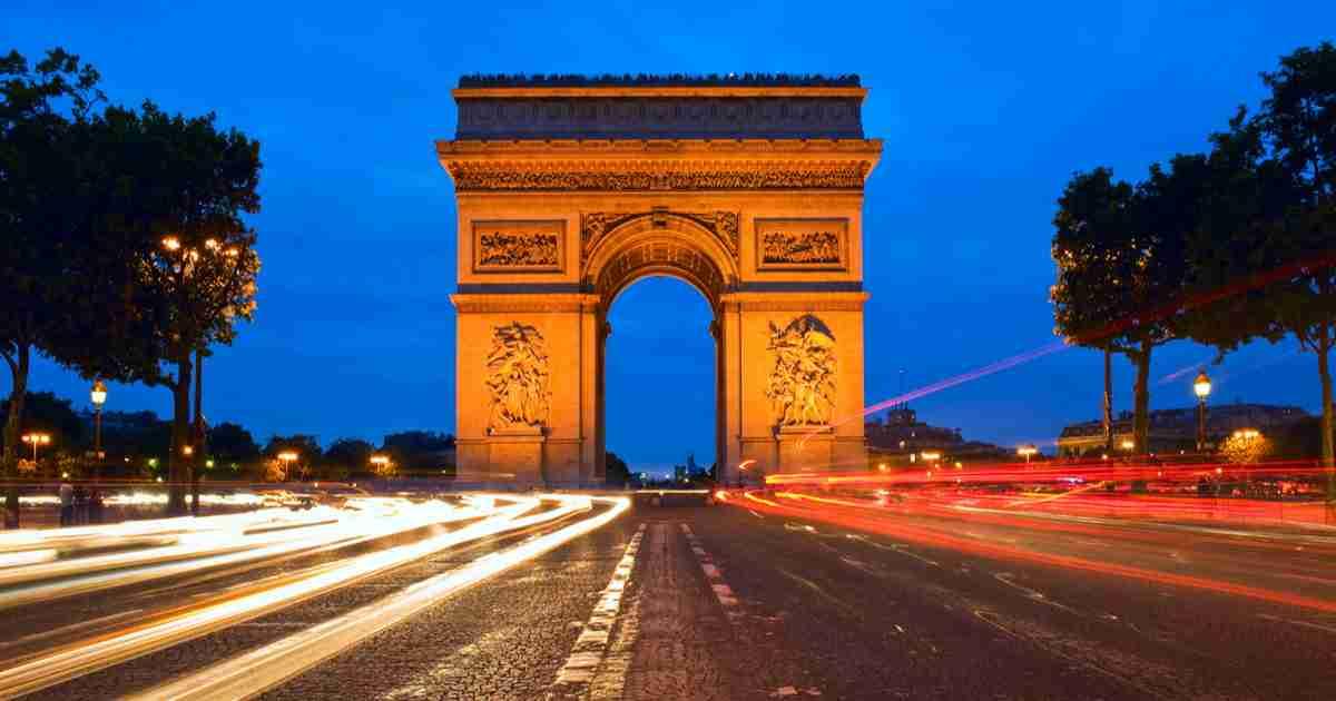 Arc de Triomphe cover in Paris in France