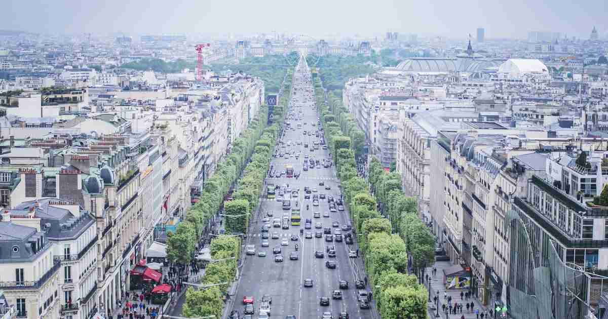Avenue des Champs Elysees cover in Paris in France