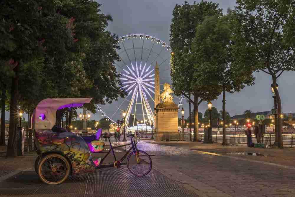 Concorde Square in Paris in France