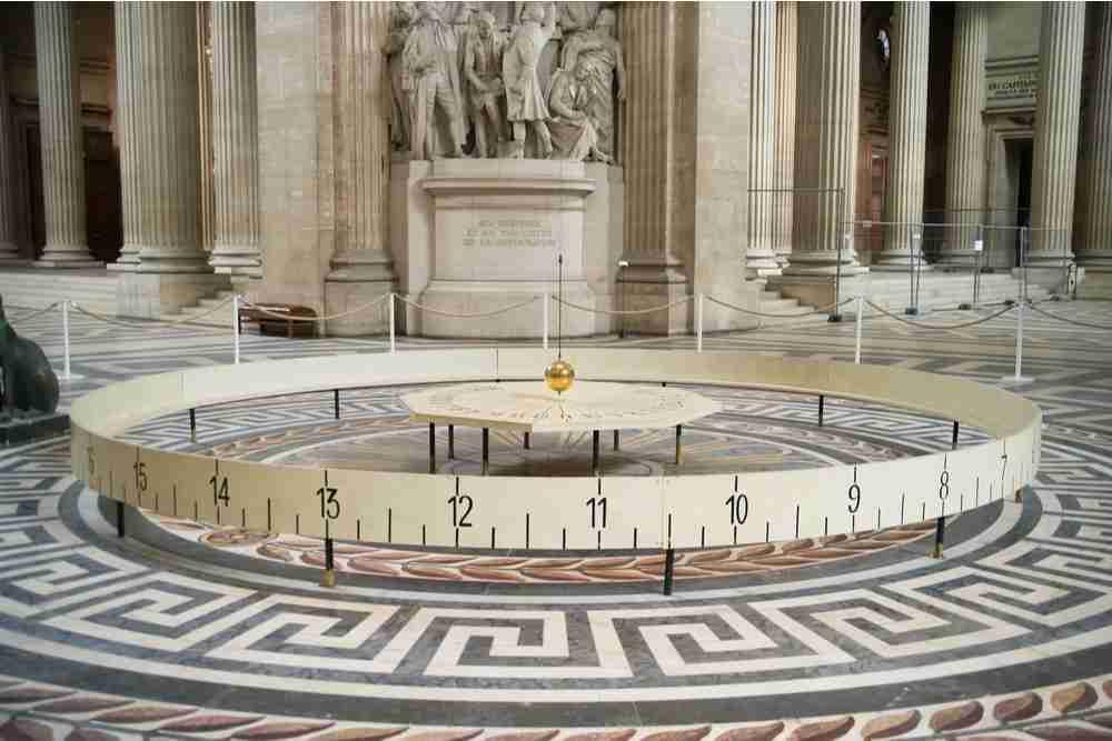 Foucalult's Pendulum in Pantheon in Paris