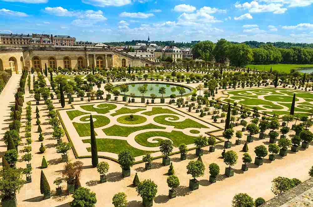 Gardens of Versailles Palace in Paris France