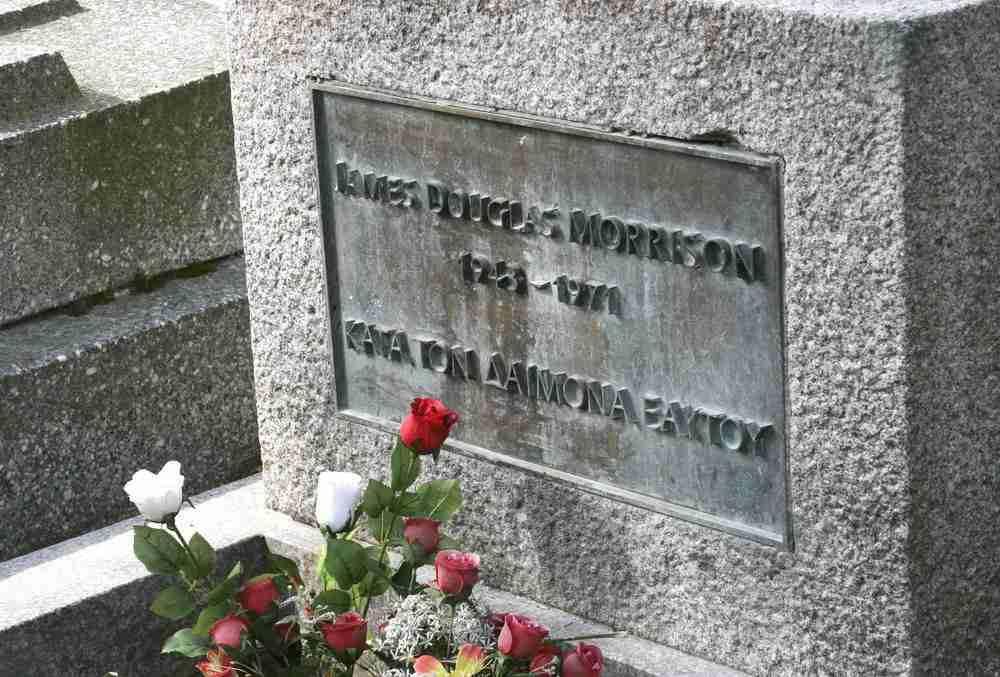 Jim Morrison grave at Pere Lachaise Cemetery
