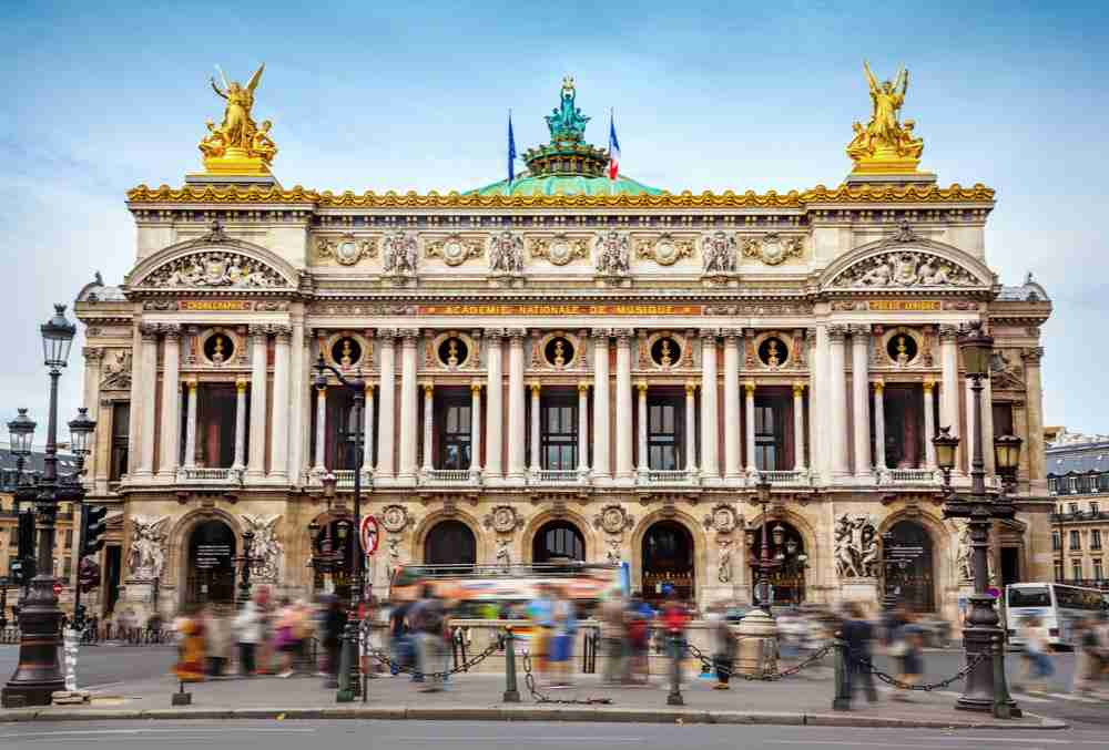 Opera Square in Paris in France