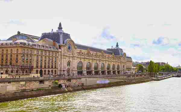 Orsay from Seine river in paris france