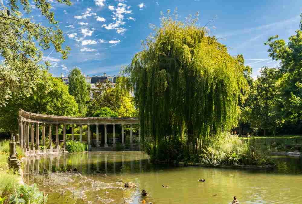 Parc Monceau in Paris in France