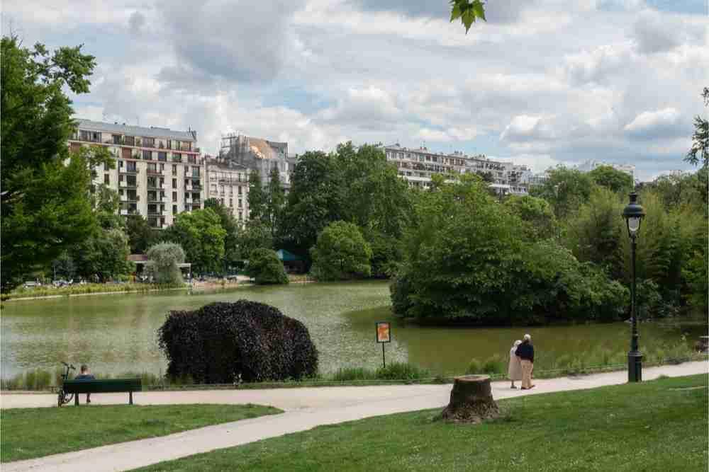 Parc Montsouris in Paris in France