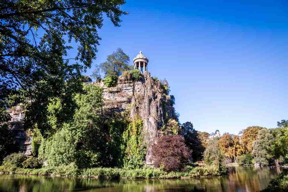 Parc des Buttes Chaumont in Paris in France