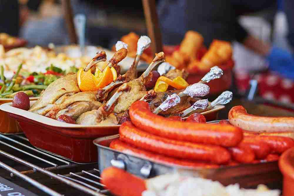 Food Sausage & Chicken in Paris