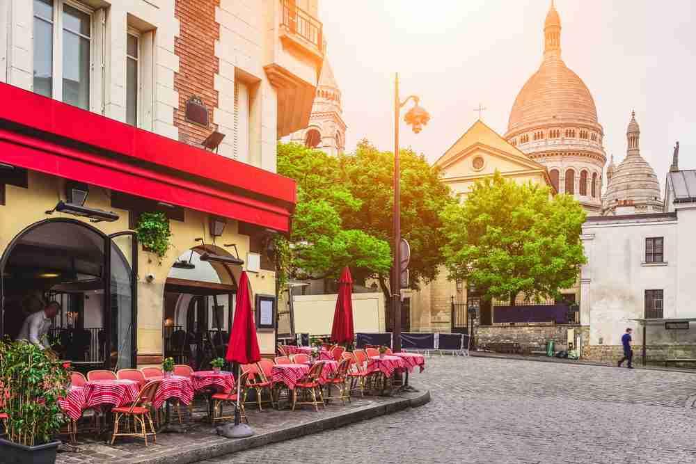 Montmartre in Paris in France