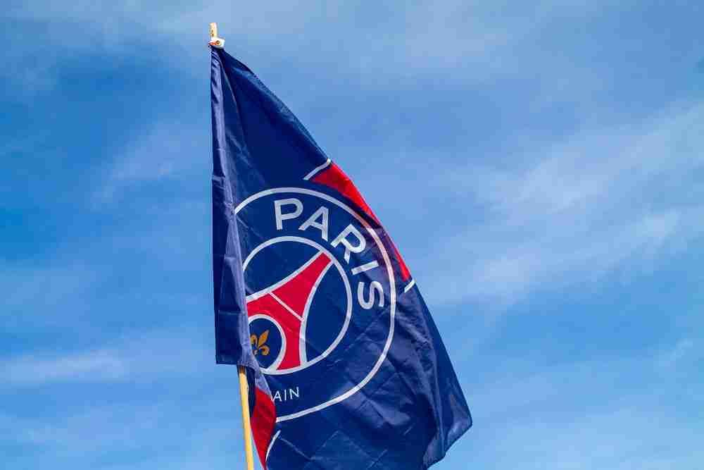 psg flag in Paris in France