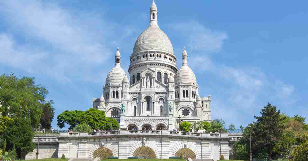 Sacre Coeur Basilica in Paris in France