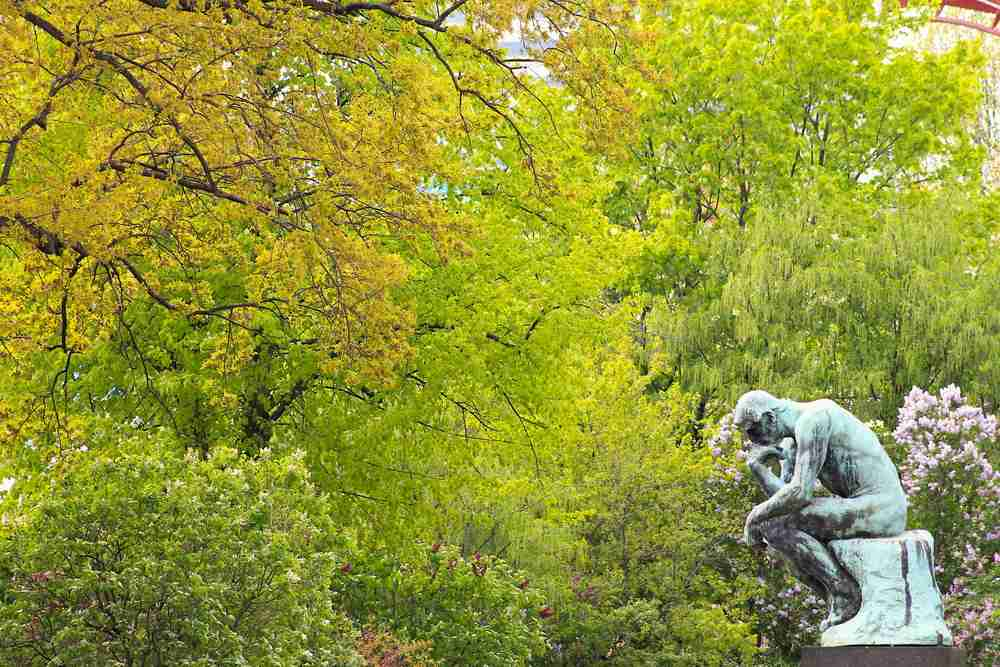 Rodin Museum- The Thinker in Paris in France