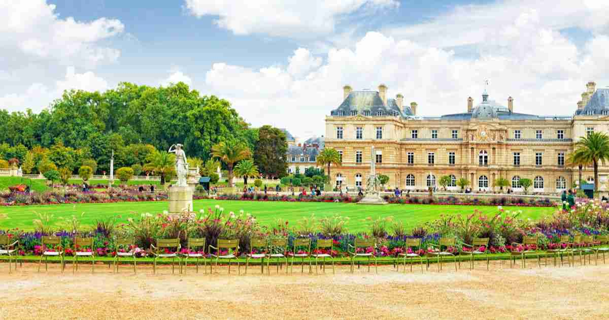 Luxembourg Gardens in Paris in France