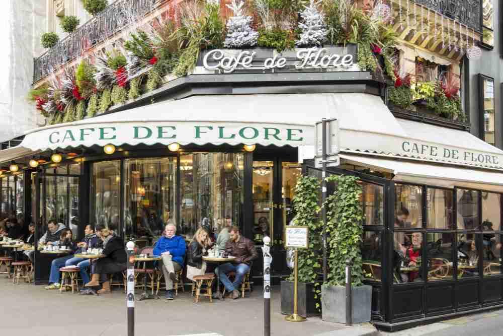 Café de Flore in Paris in France