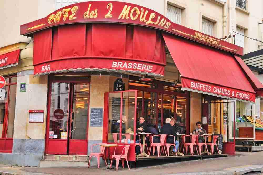 Café des Deux Moulins in Paris in France