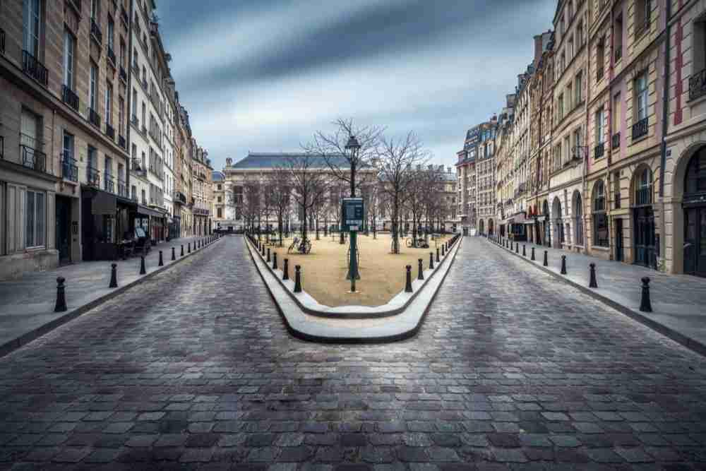 La Place Dauphine in Paris in France