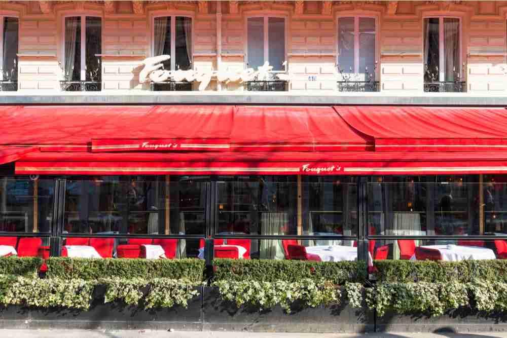 Le Fouquet's in Paris in France